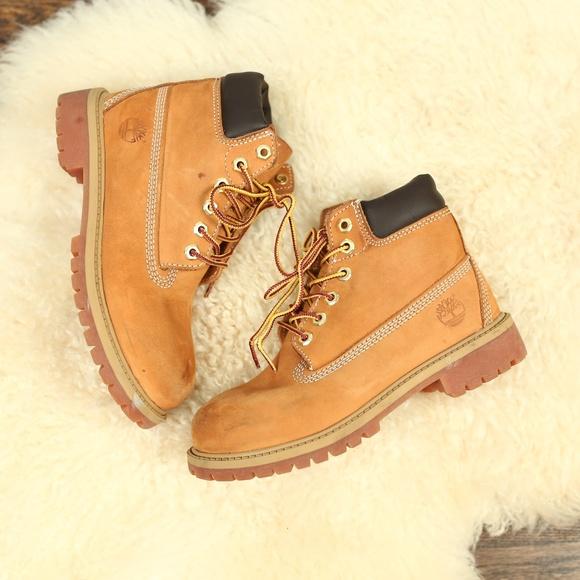 75278ff1f Timberland Shoes | Tan Wheat Nubuck 6 Inch Boots Boys | Poshmark